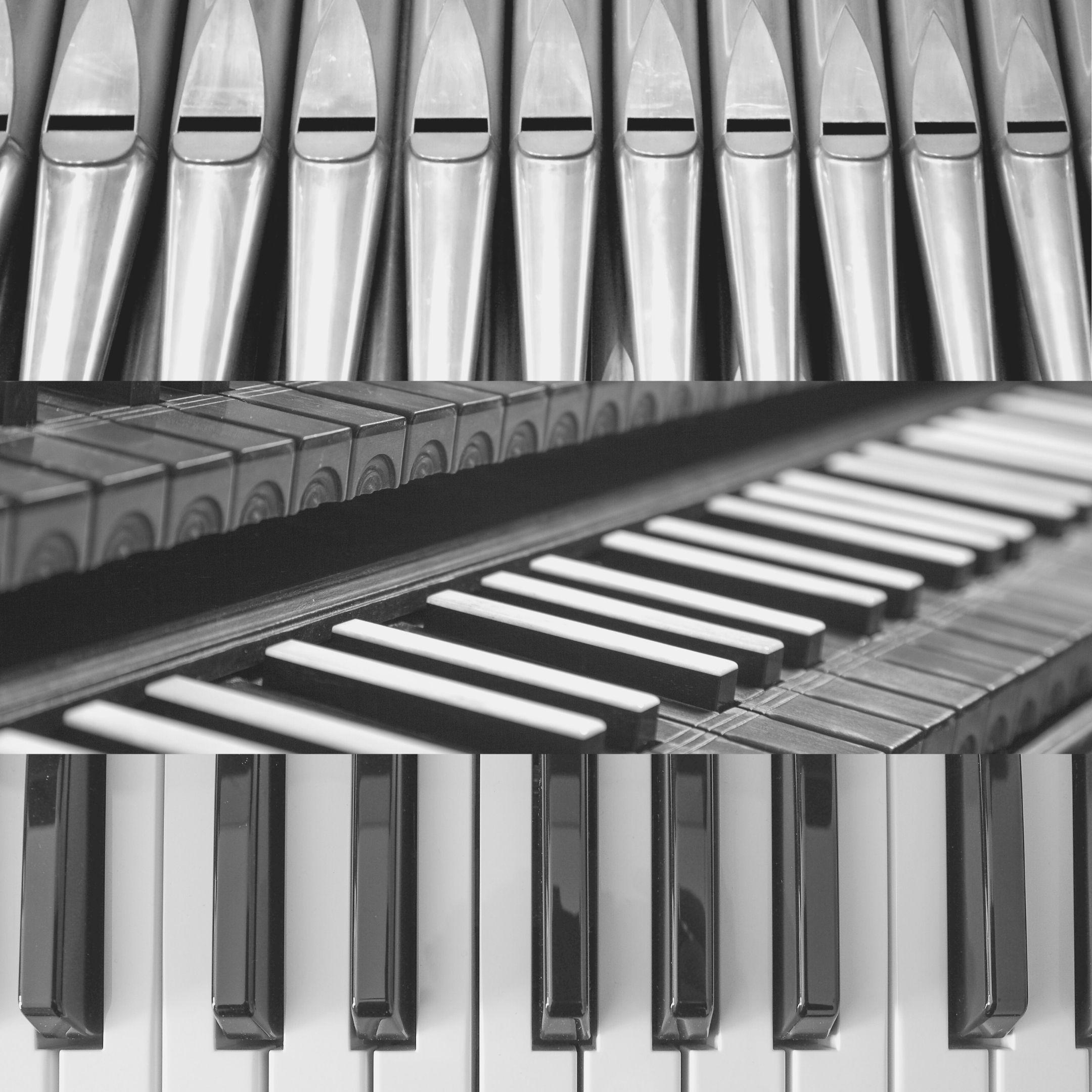 Diferença entre Órgão, Cravo e Piano.